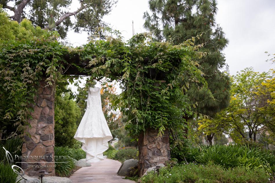 Wedding dress photo at Pala Mesa Resort Fallbrook