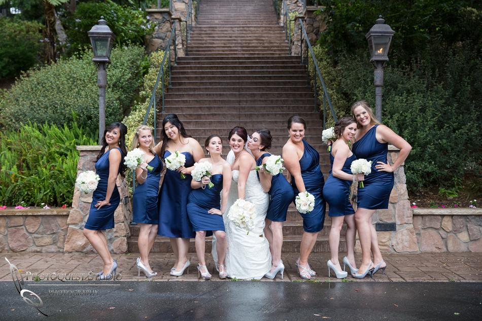 Bride & her bridesmaid at Pala Mesa Resort Fallbrook by Temecula Wedding Photographer