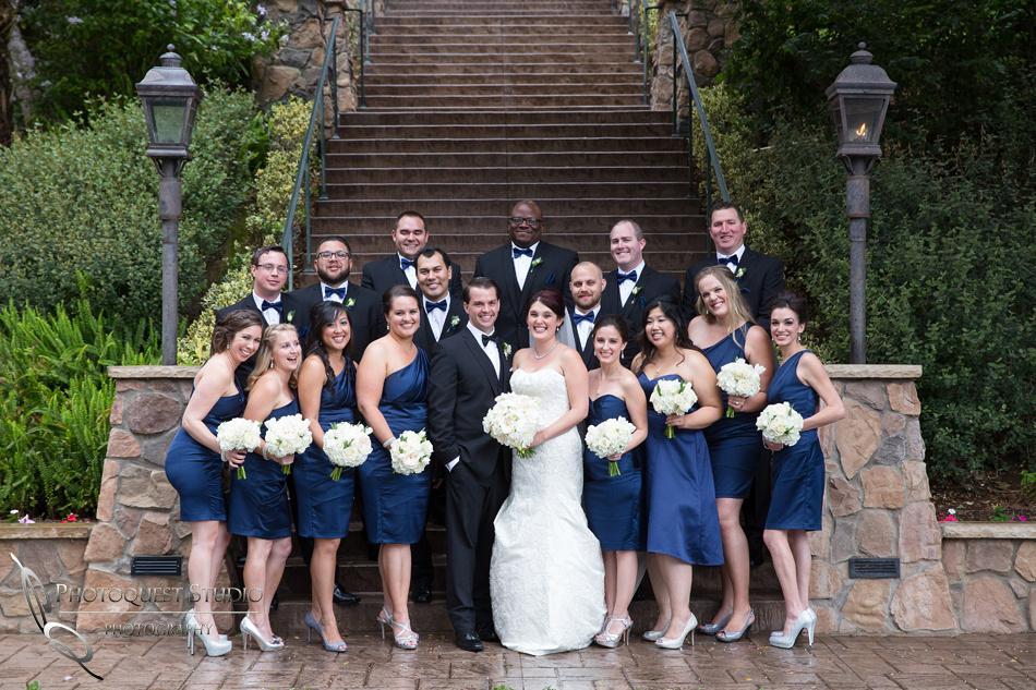 The bridal party at Pala Mesa Resort Fallbrook by Temecula Wedding Photographer