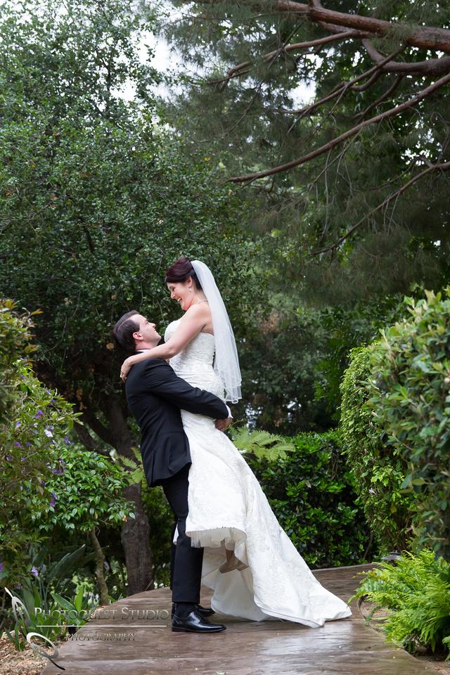 Groom pick up the Bride at Pala Mesa Resort Fallbrook by Temecula Wedding Photographer