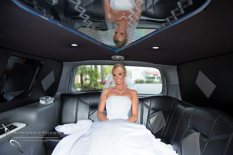 Bride in the Limo by Temecula Wedding Photographer of Photoquest Studio, Photography