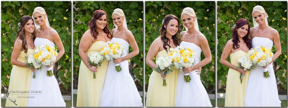 The bride and her bridesmaid at Menifee wedding