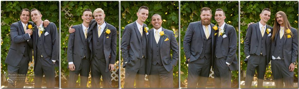 Groom and Groomsmen at the Orchard, Wedgewood Wedding in Menifee by Temecula Wedding Photographer
