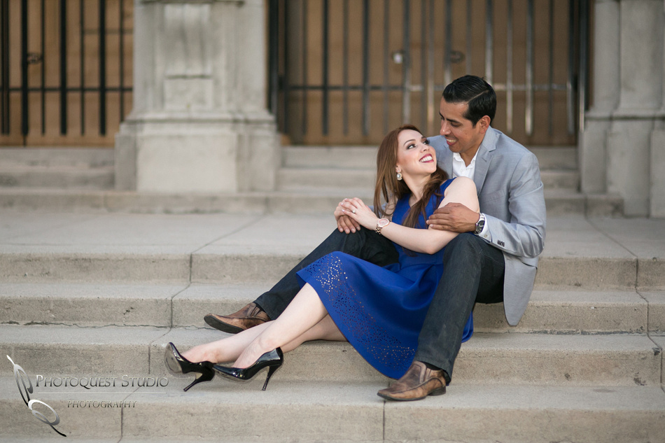 the look of love at Riverside Downtown, California Engagement Photo by Temecula Wedding Photographer
