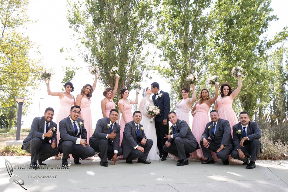 happy bridal party