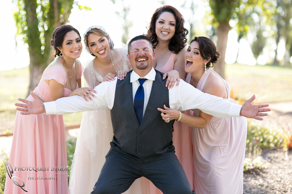 bride and her brother and sister, nipple pinching