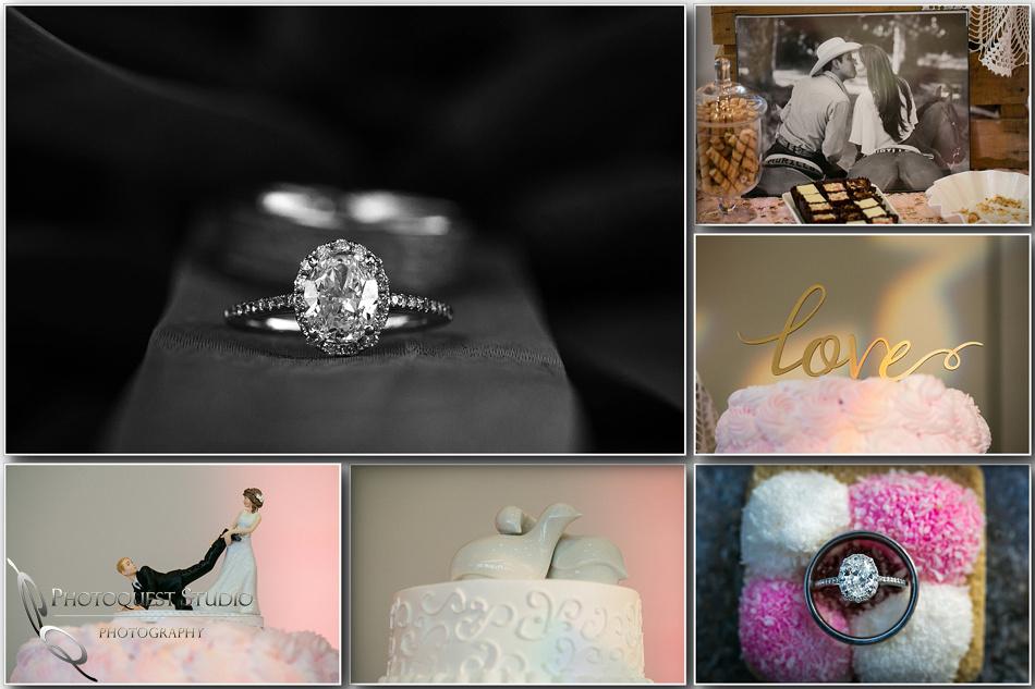 diamond and wedding cake