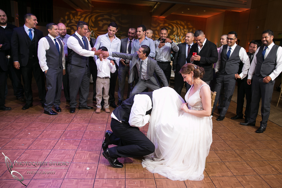 too young to see, groom getting the garter
