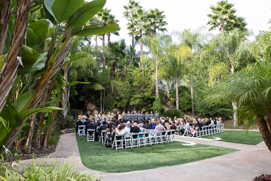 The other view of the ceremony. Wedding photos at Grand Tradition Estate Fallbrook by Wedding Photographer in Temecula