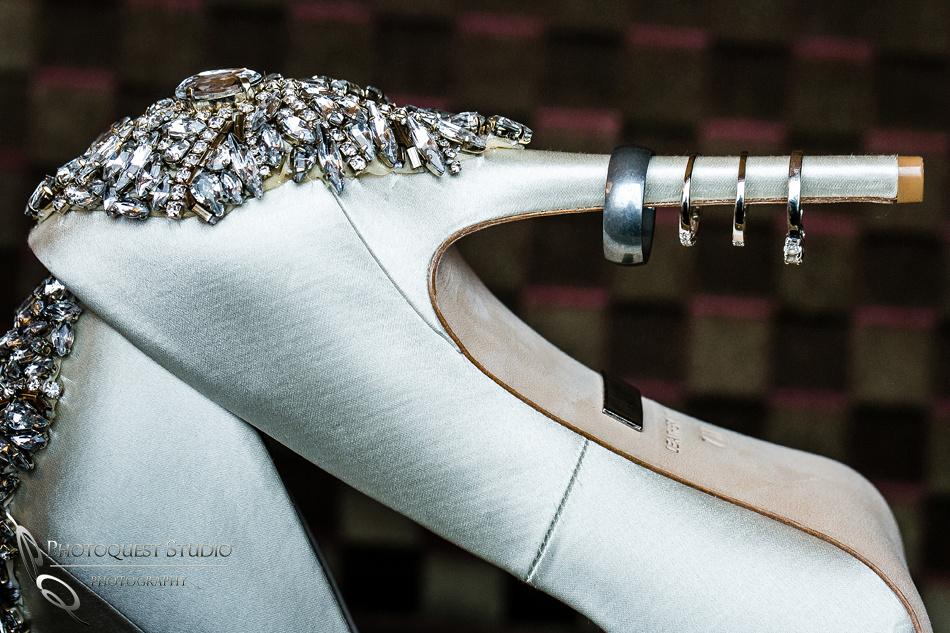 diamond rings on Badgley Mishka Kiara shoes