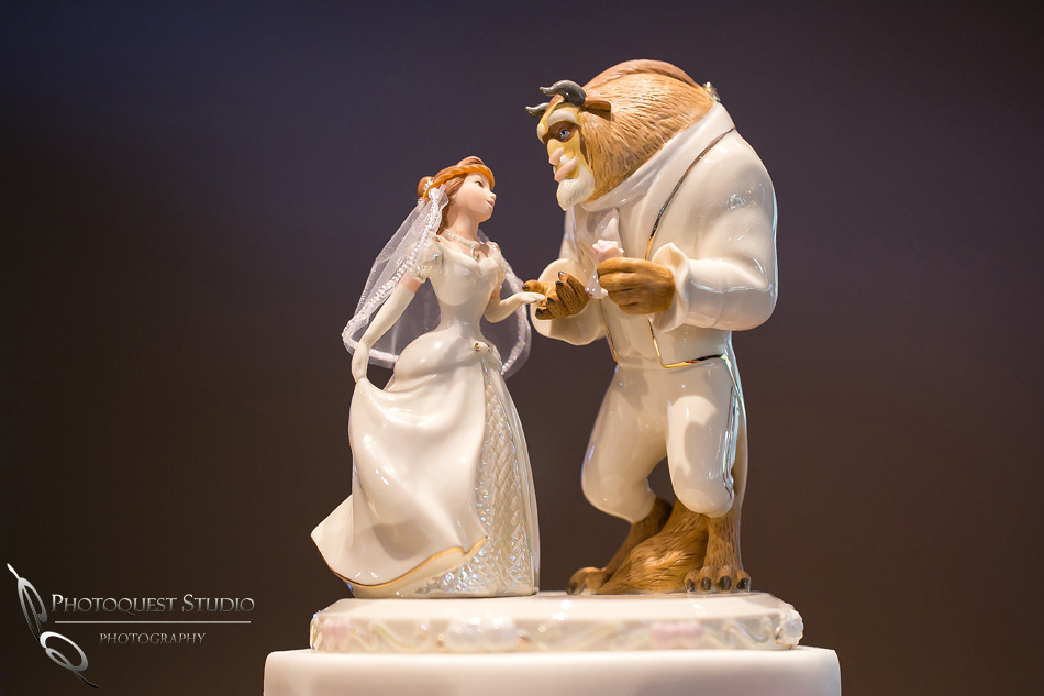 Disney Princess, Beauty and the Beast wedding cake