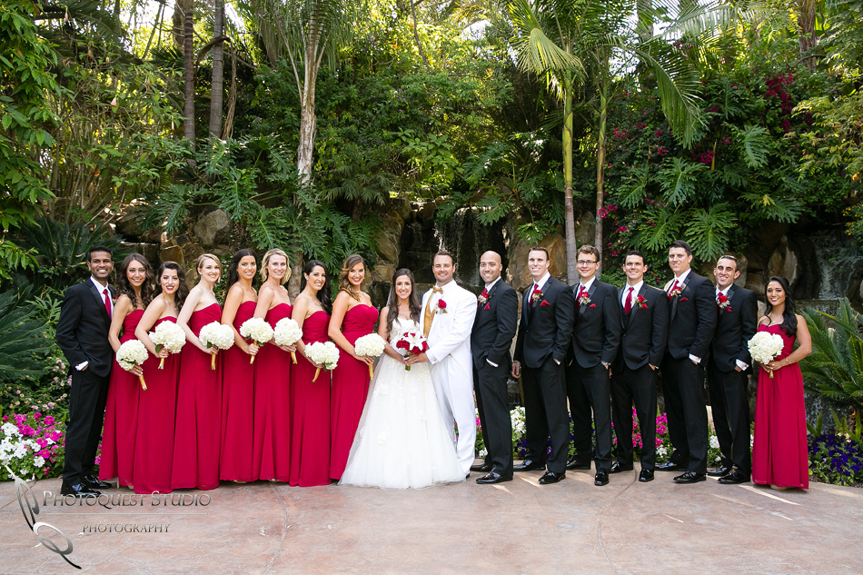 amazing bridal party at Grand Tradition Estate Fallbrook by Temecula Wedding Photographer