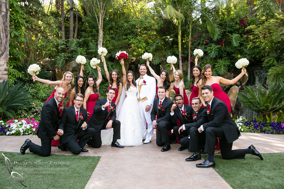 Wedding party at Grand Tradition Estate Fallbrook by Temecula Wedding Photographer