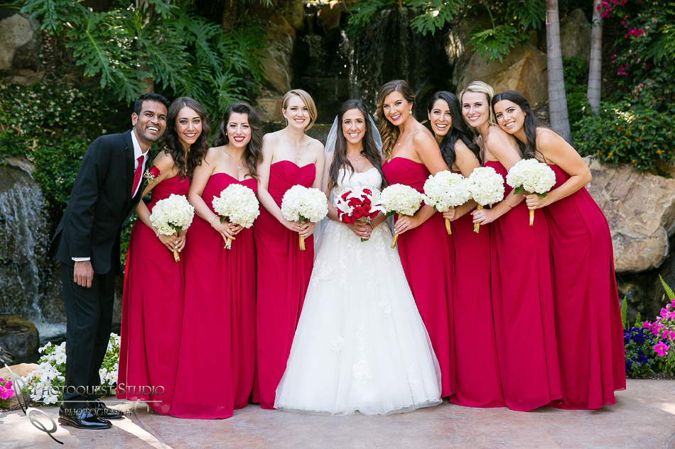 happy bridal party at Grand Tradition Estate Fallbrook by Temecula Wedding Photographer