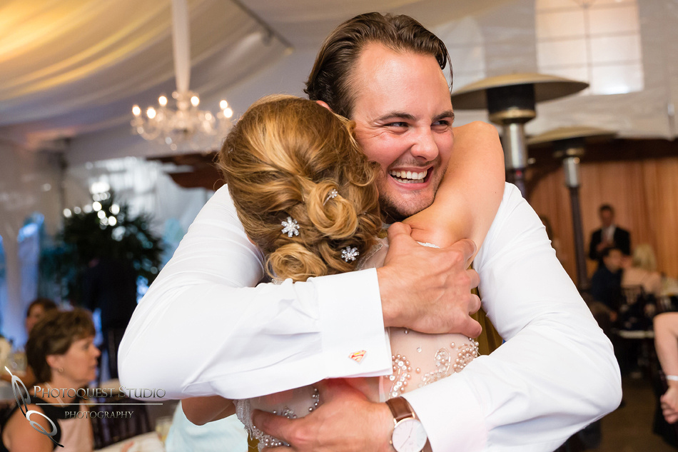 the groom hugging his mother in law