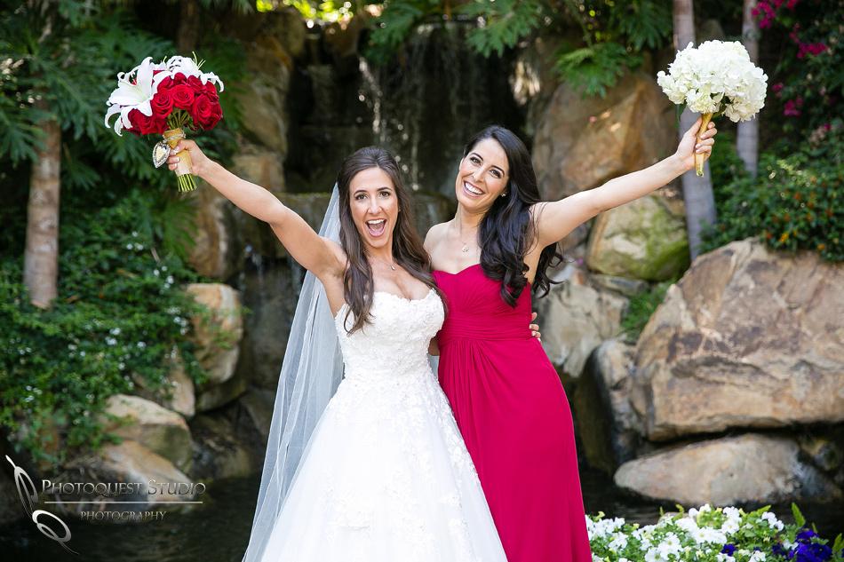 beautiful bridesmaid and the bride