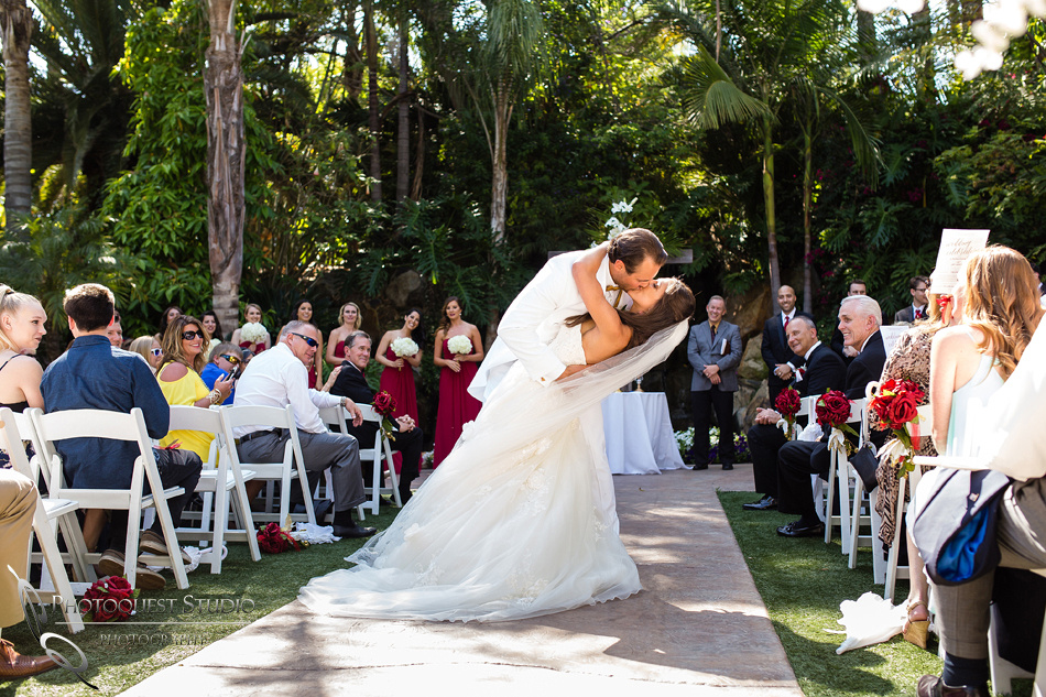 the 2nd kiss at Grand Tradition Estate Fallbrook by Temecula Wedding Photographer