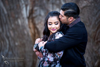 Kissing her at Engagement by Temecula wedding photographer