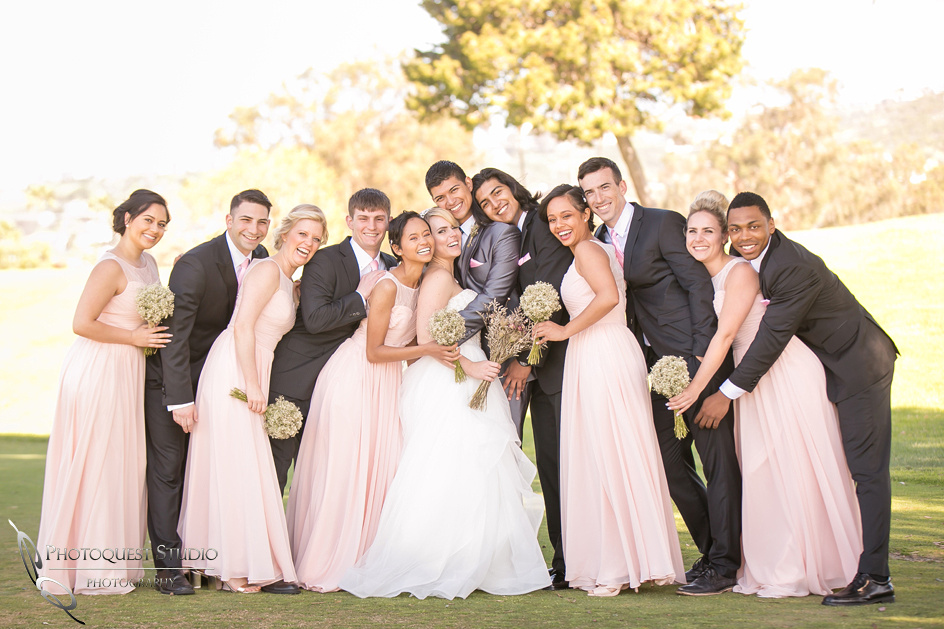 Bridal party love, Temecula, Fallbrook wedding photographer