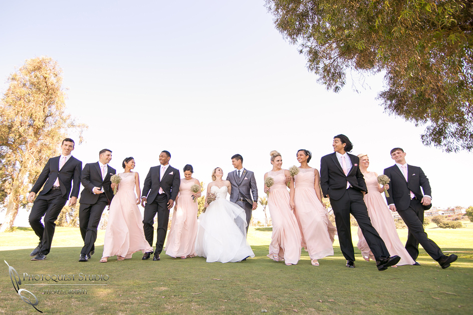 Temecula, Fallbrook wedding photographer with wonderful bridal party