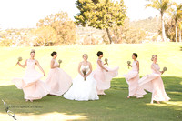Bridesmaids dancing around the Bride, Temecula, Fallbrook wedding photographer