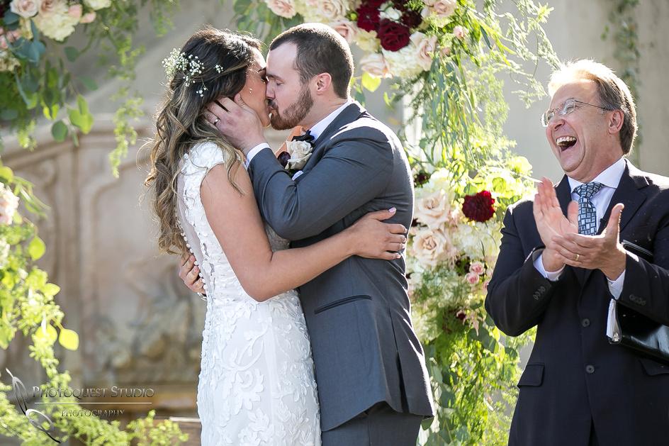 Temecula Wedding Photographer.  First Kiss