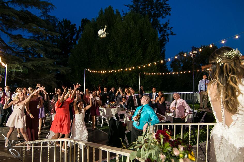 Flying bouquet, Temecula, Pomona Wedding Photographer