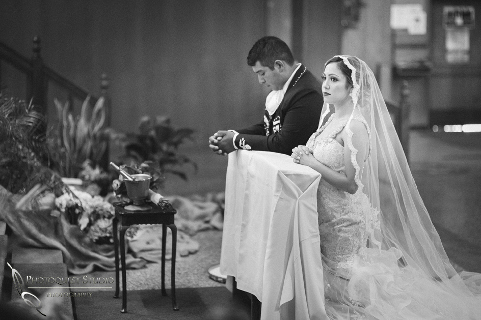 Black & White, Wedding Photographer in Temecula, Riverside, Mexican Traditional Church Wedding