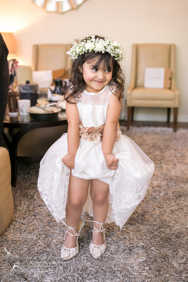 Cutest flower girl by Temecula Wedding Photographer