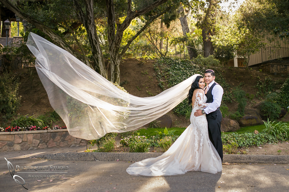 Temecula Wedding Photographer with flying veil
