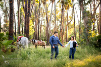 Wedding Photographer in southern california, Engagement Photo with Horses