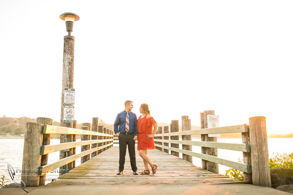Engagement photo at Frank G Bonelli park