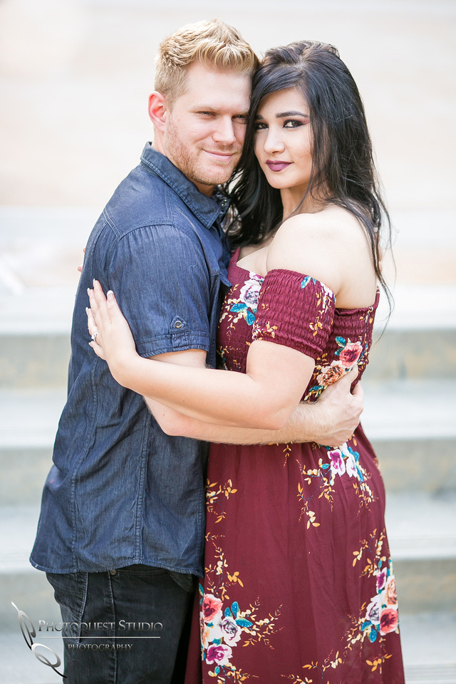 Engagement Photo at Hillcrest Park,  Fullerton by Temecula Wedding Photographer