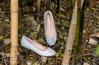 Wedding shoes and bamboo tree