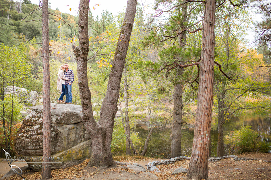 Lake Fulmor, Idyllwild Engagement Photo by Temecula wedding photographer