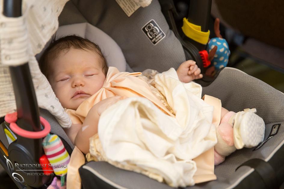 baby sleep at wedding