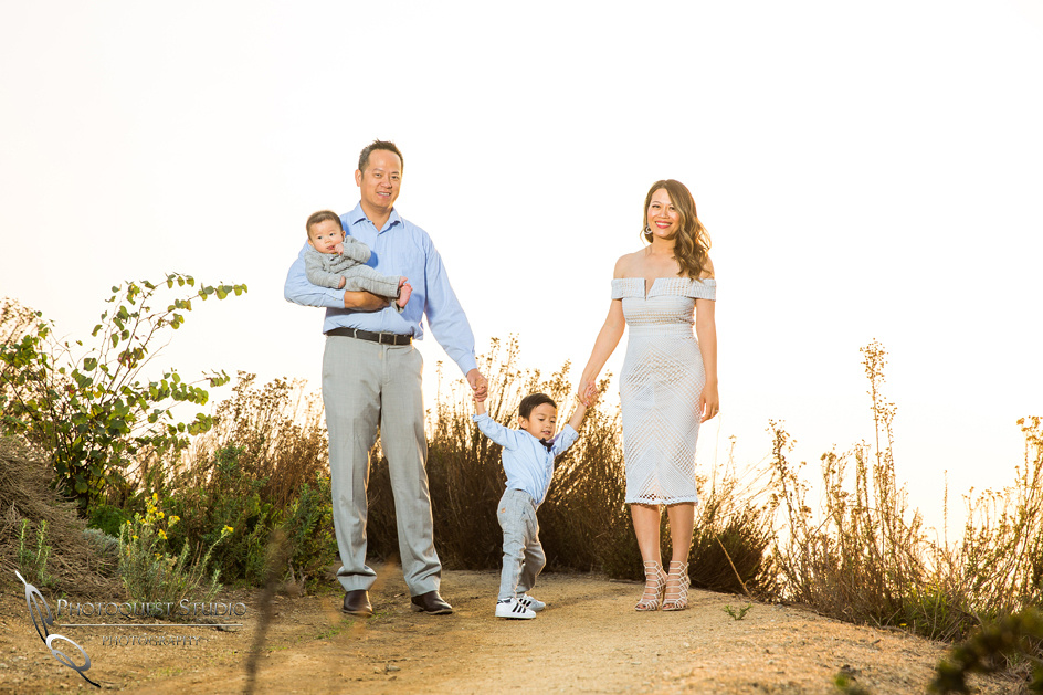 orange county sunset family photo session by Temecula family photographer
