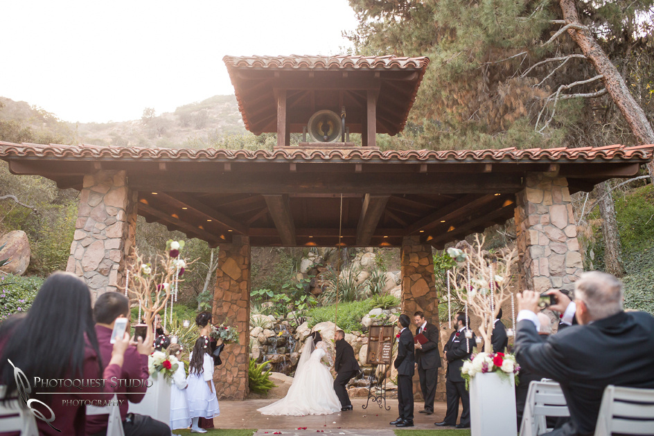 Ring the bell at Pala mesa resort wedding