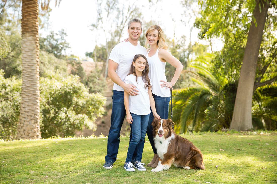 Family Photo at Hillcrest Park with Dog