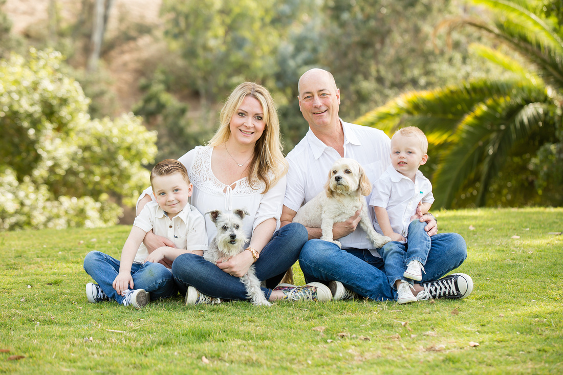 The Ashcroft Family Photo at Hillcrest Park, Fullerton, California