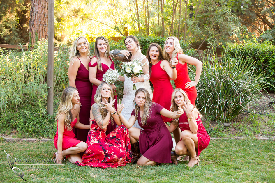 Bride and Bridesmaids fun time