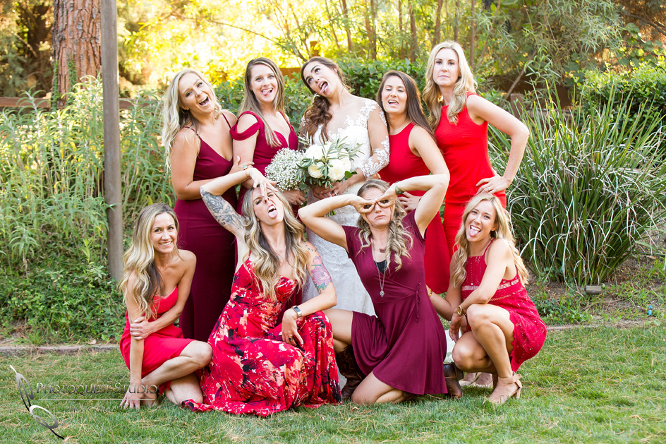 Temecula Wedding Photographers, Bride and Bridesmaids