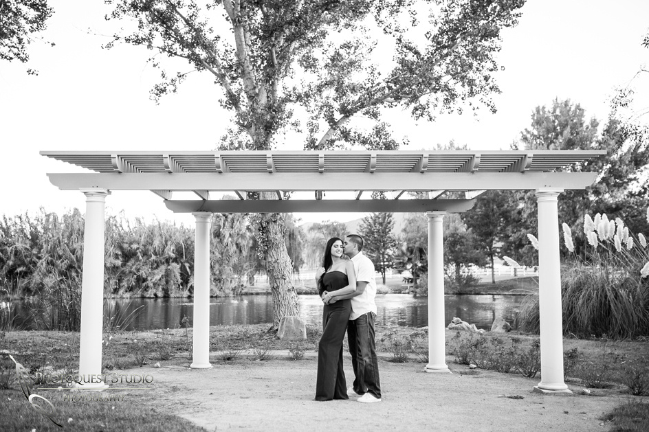 Engagement photo in black & white in Murrieta, Southern California