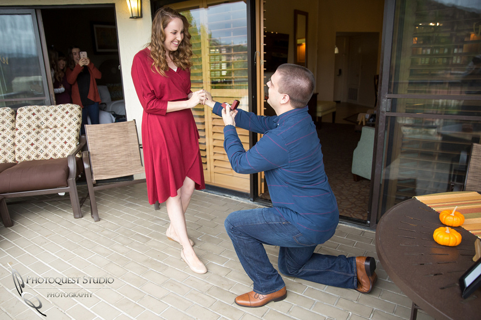 Surprise Proposal at Welk Resort, Escondido by Wedding Photographer in Temecula