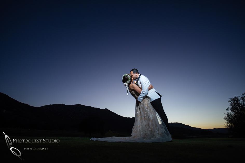 Bride and Groom Kissing, Temecula Wedding Photographers