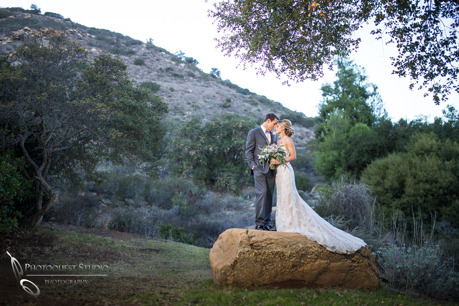 Romantic moment by Fallbrook Temecula Wedding Photographer