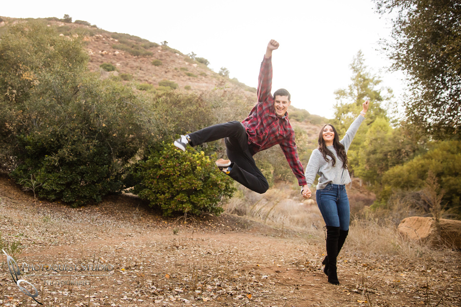 Jump and Cheer, Wedding-Photographer-in-Temecula,-Fallbrook,-San-Diego,-Engagement-Photo