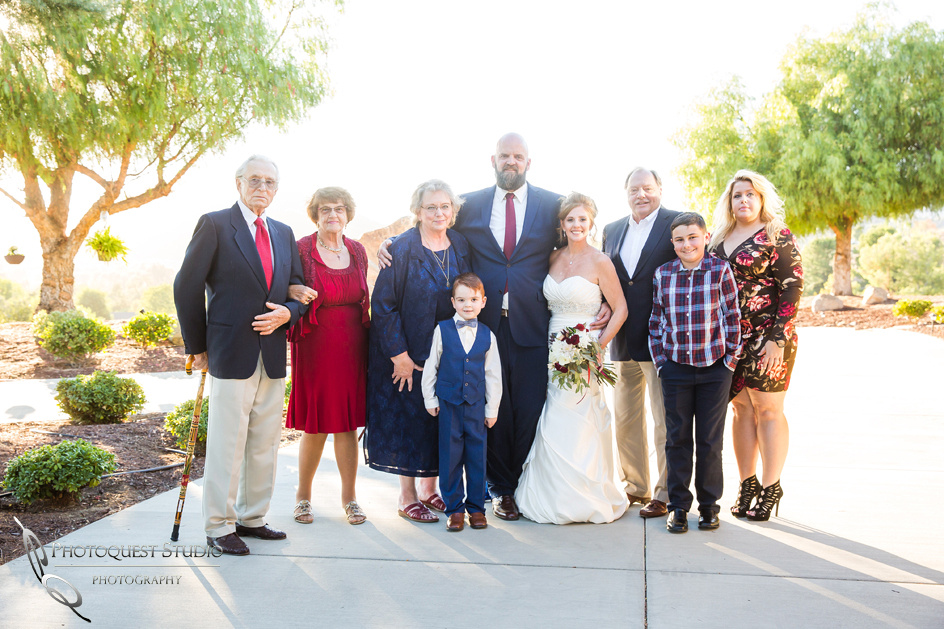 Family Photo at Private-Residence-Wedding-in-La-Cresta