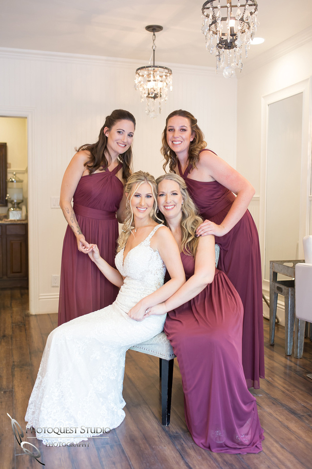 Stunning looking bride and her bridemaids
