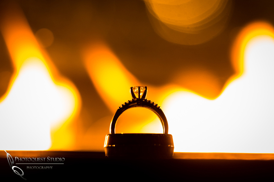 wedding ring by the fire